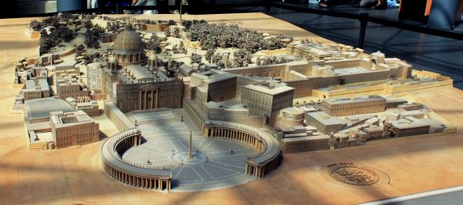 Maquette de la citée du Vatican