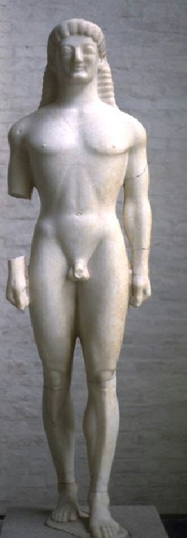 "So called ""Apollo (or Kouros) of Tenea"", corin..."