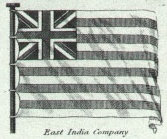 British East India Company flag plate in Rees'...