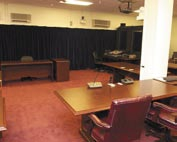 """Court Room"" where a Guantanamo mili..."