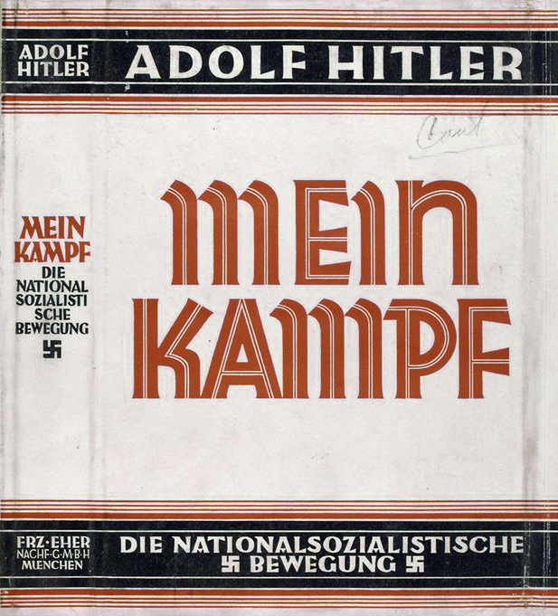 English: Dust jacket of the book Mein Kampf, w...