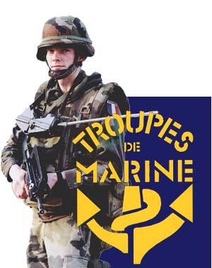 English: Pictures of the Marines (France) Army...
