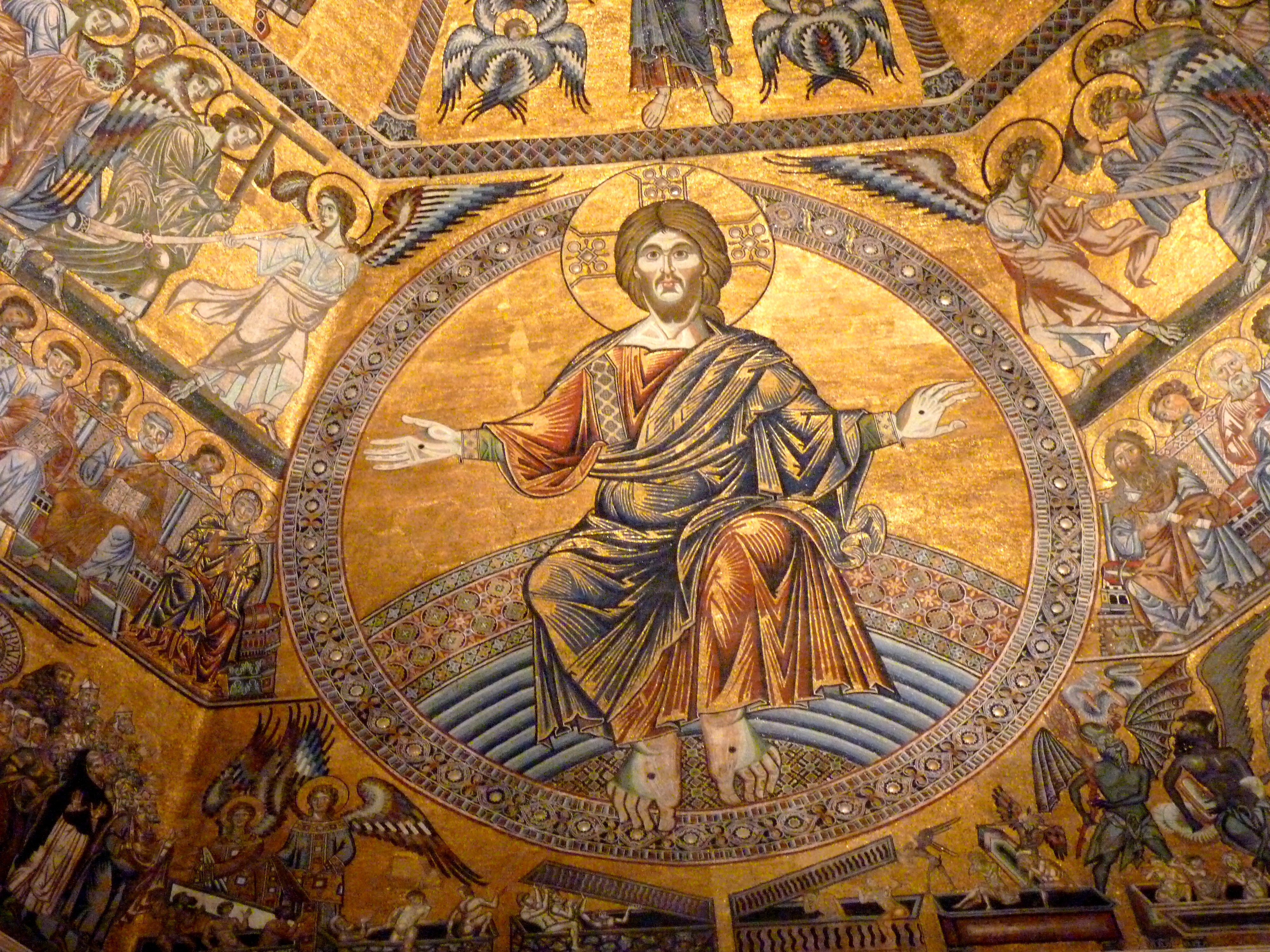 File:The mosaic ceiling of the Baptistery of Florence.jpg