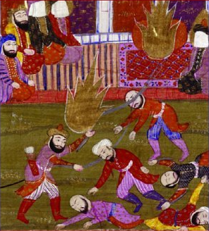 English: The massacre of the Banu Qurayza. Det...