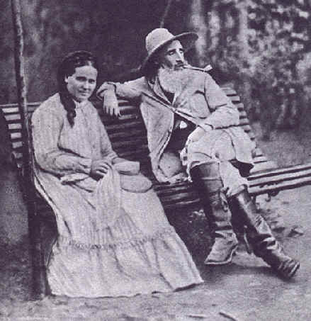 Pissarro with his wife, Julie Vellay, in 1877.