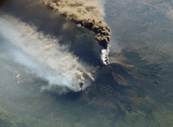 Mount Etna Eruption From Space