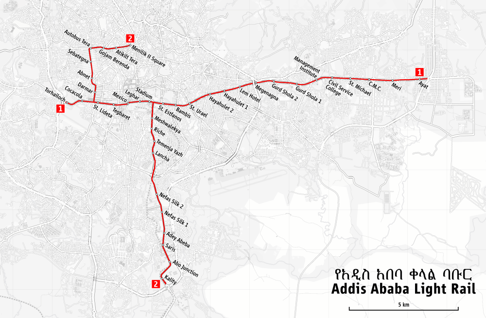 medium resolution of map of the addis ababa light rail png