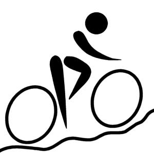 Pictograms of Olympic sports - Cycling (mounta...