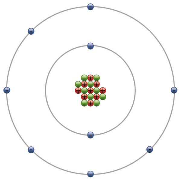 diagram of an atom structure