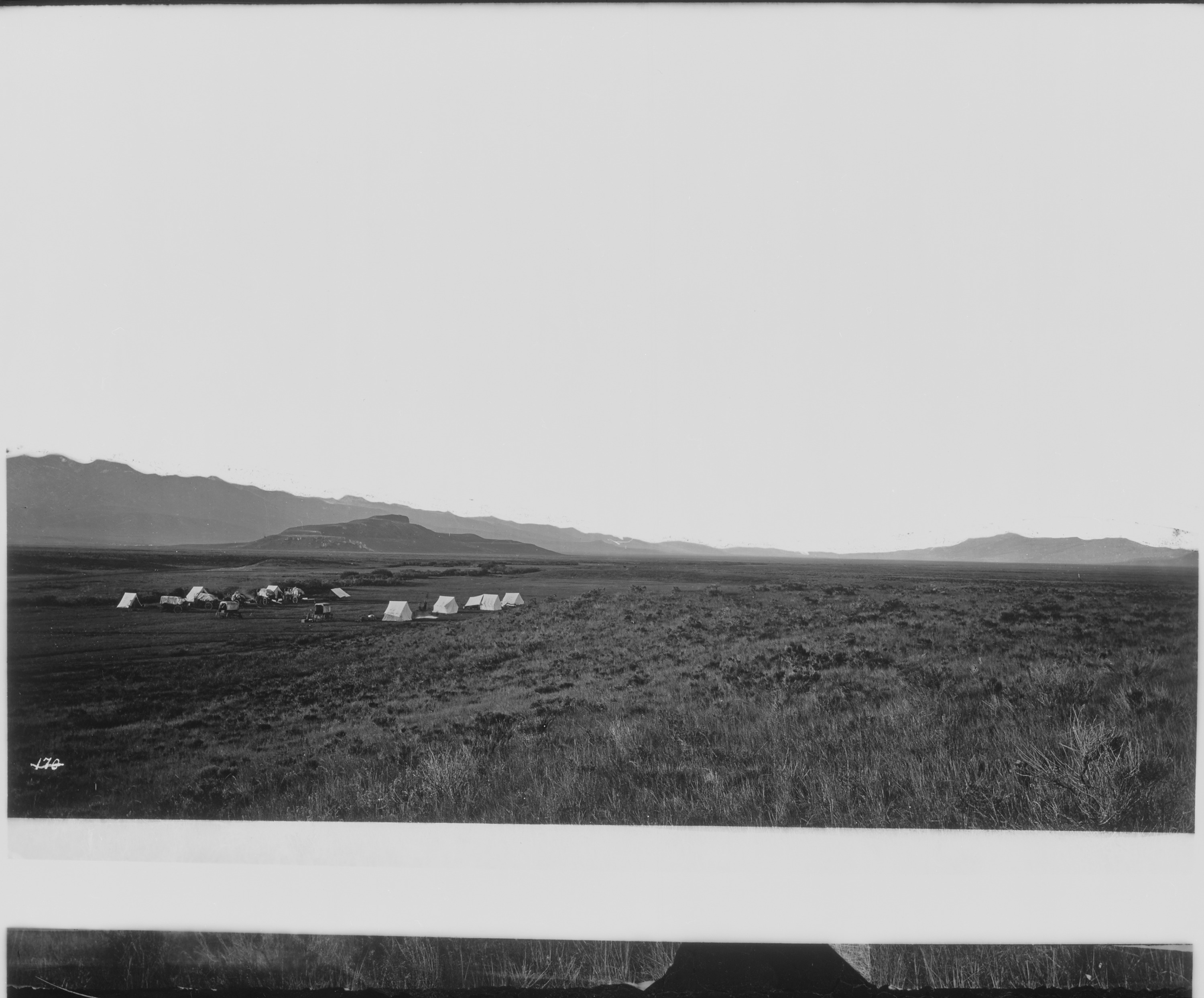 Camp near the head of Cache Valley, Utah - NAR...