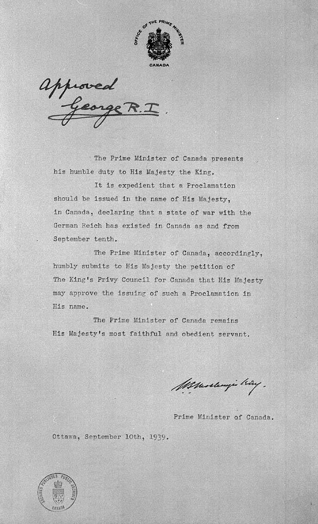 Declaration of war by Canada  Wikiwand