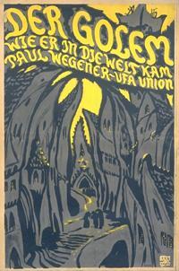 """Русский: Постер фильма """"Голем"""" (1920..."""