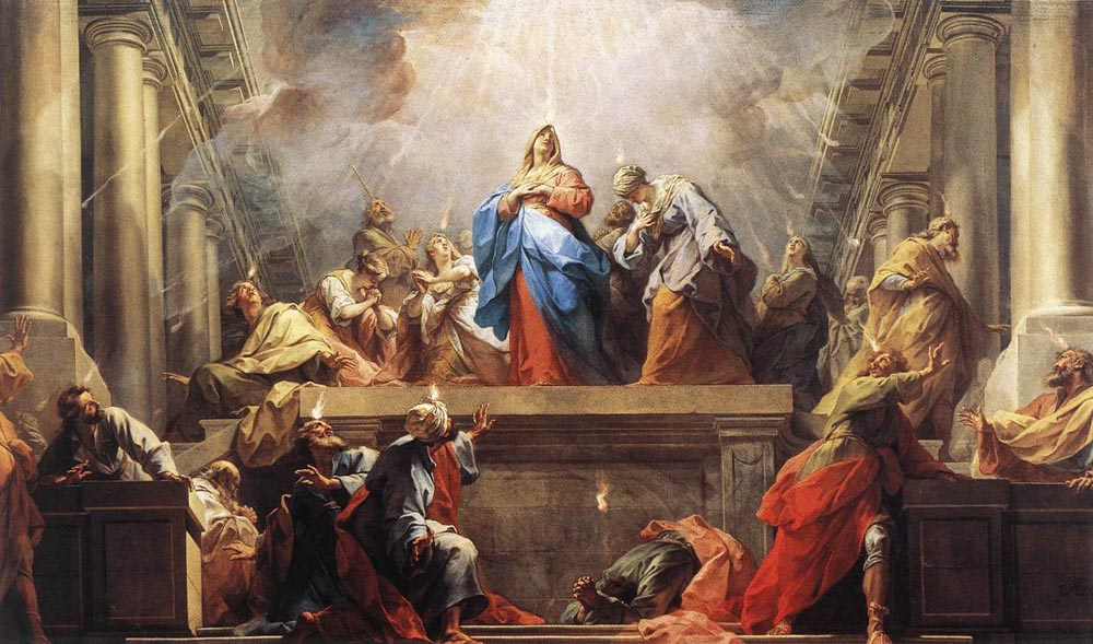 painting of the Pentecost on wikipedia