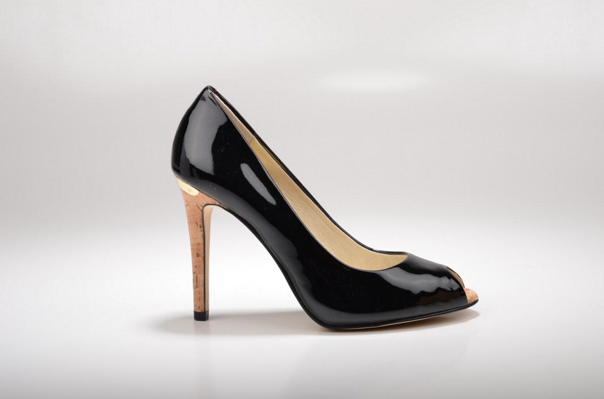 Image result for High Heel Pump Dress Shoe Black Combo