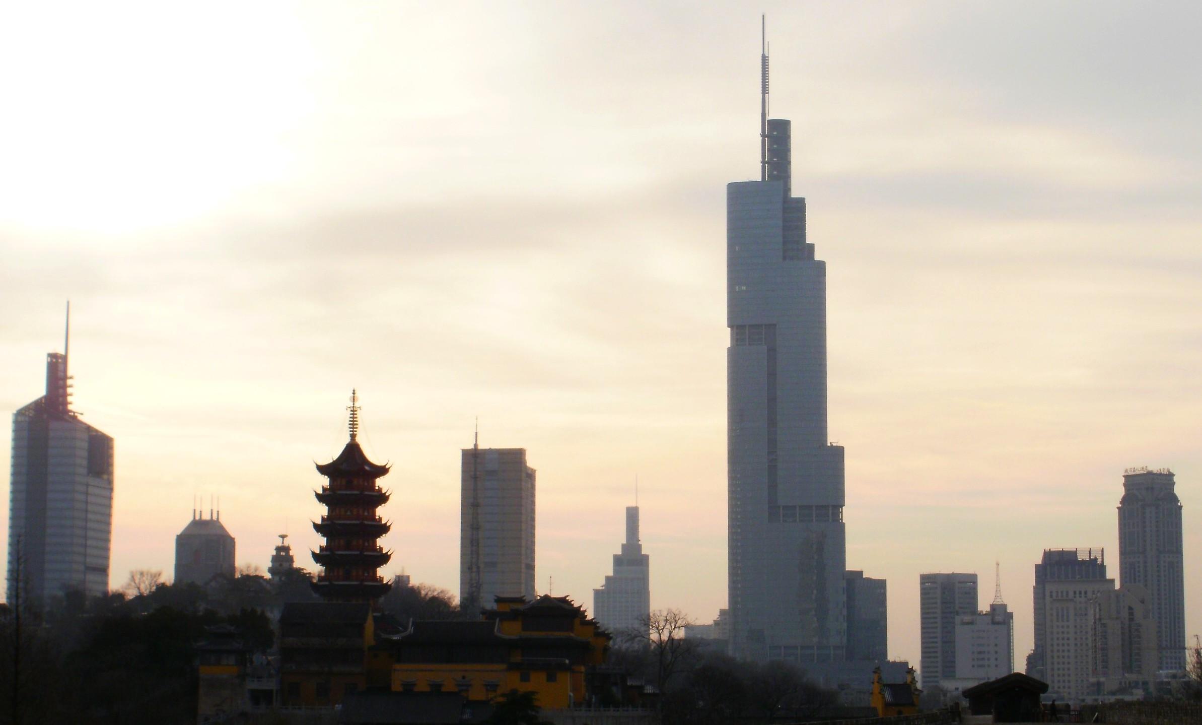 File Nanjing Skyline 2010 Jpg Wikimedia Commons