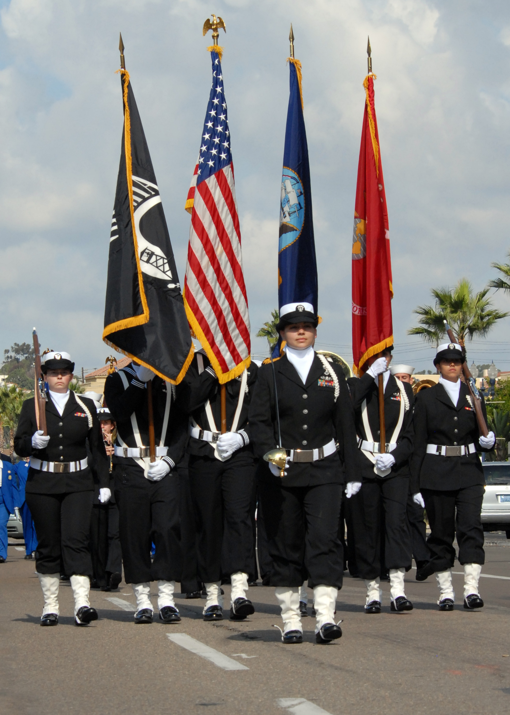 File Us Navy N C 001 The Color Guard Assigned