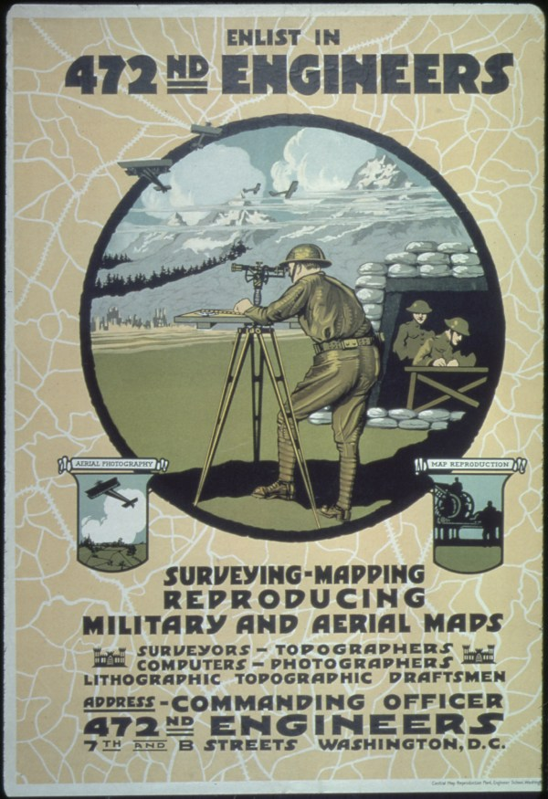 """File """"enlist In 472nd Engineers. Surveying Mapping"""