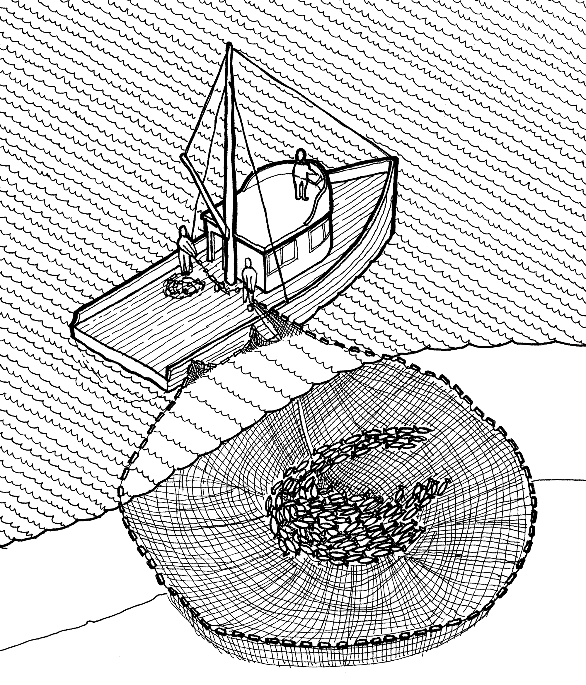 hight resolution of file purse seine illustration historic american engineering record png