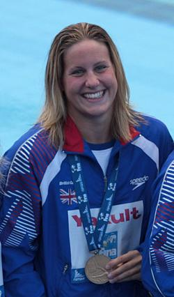 English: British swimmer Joanne Jackson, bronz...