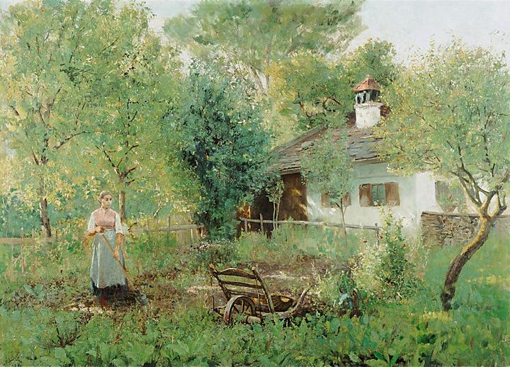 File:Johann Sperl Mädchen im Bauerngarten.jpg