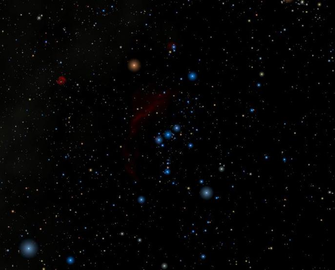 קבוצת הכוכבים אוריון (הצייד). צילם : רוברטו מוּרה