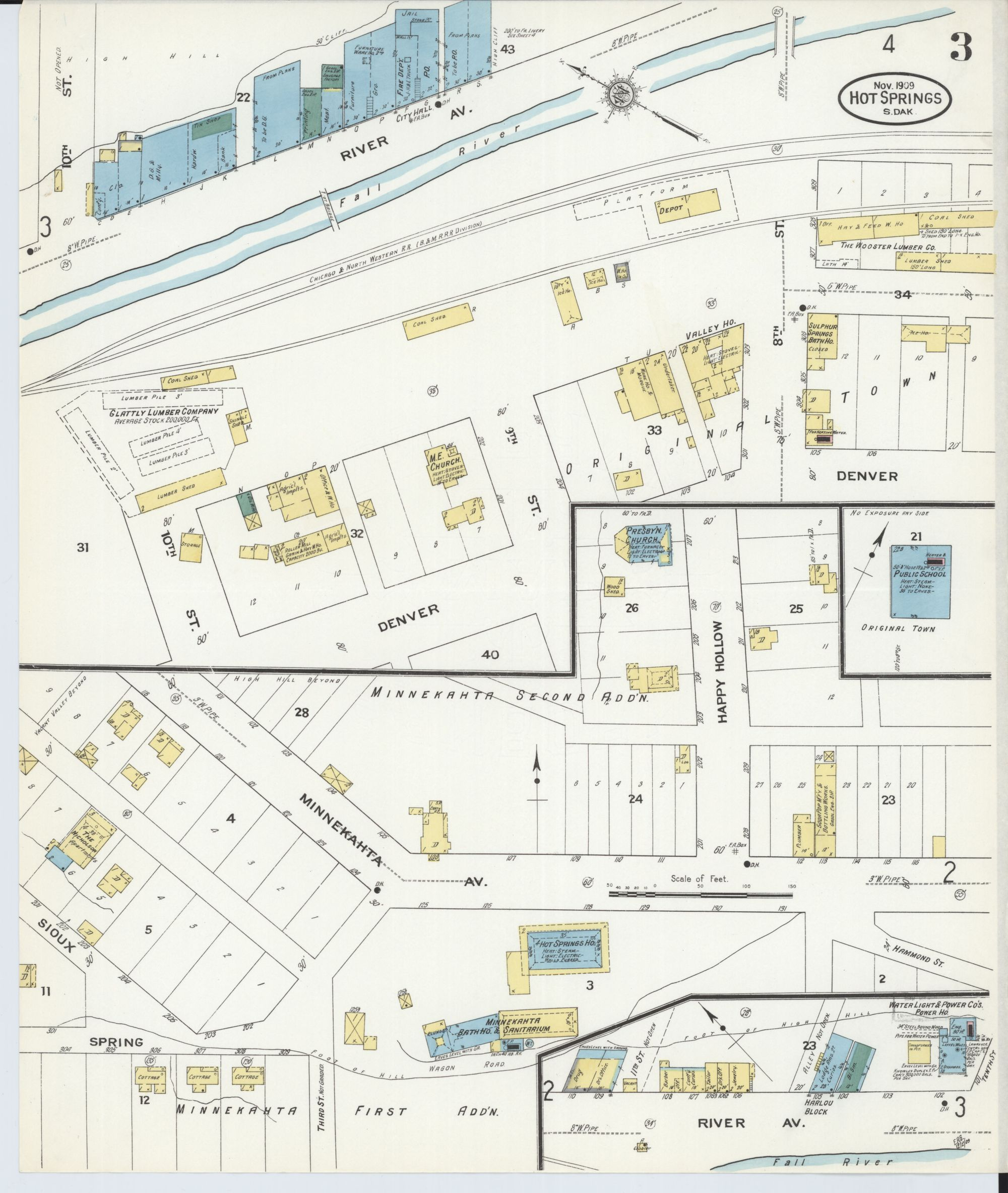 hight resolution of file sanborn fire insurance map from hot springs fall river county south dakota loc sanborn08240 004 3 jpg
