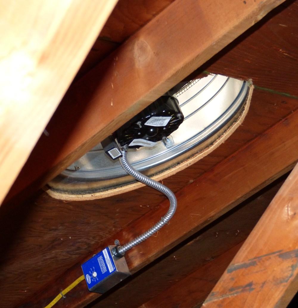 medium resolution of attic fan