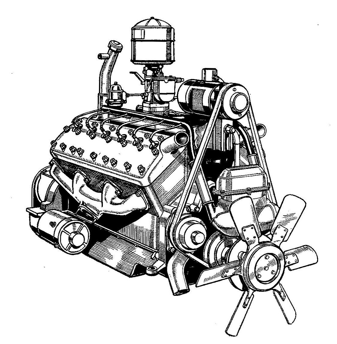 Datei:Lincoln Zephyr V12 engine (Autocar Handbook, 13th ed