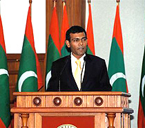 English: Mohamed Nasheed, President of the Mal...