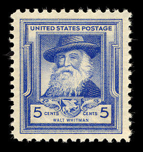1948 US stamp honoring Walt Whitman