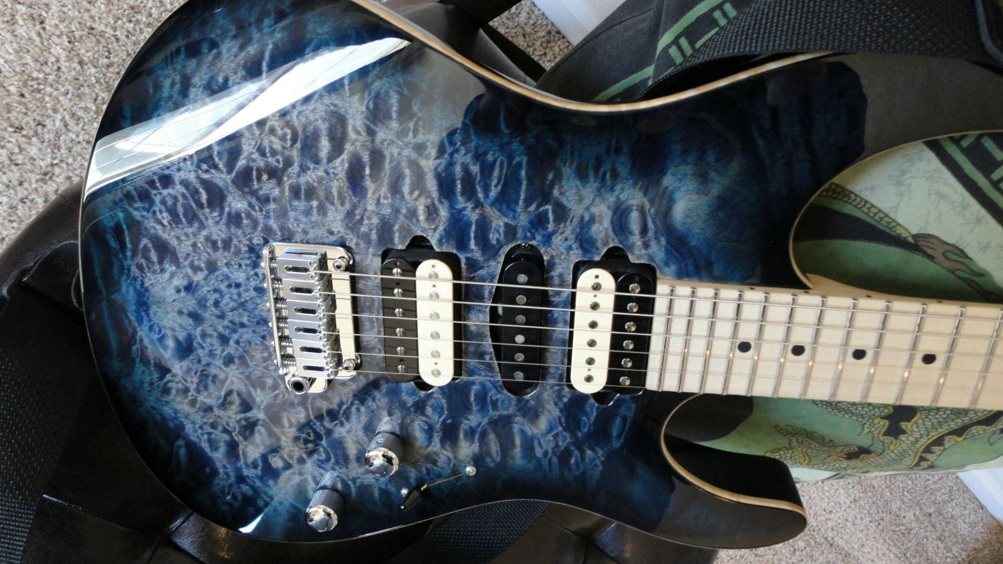hight resolution of suhr modern whale blue maple top