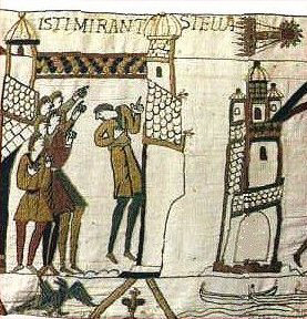 Tapestry of Bayeux (Normandy) with Halley's co...