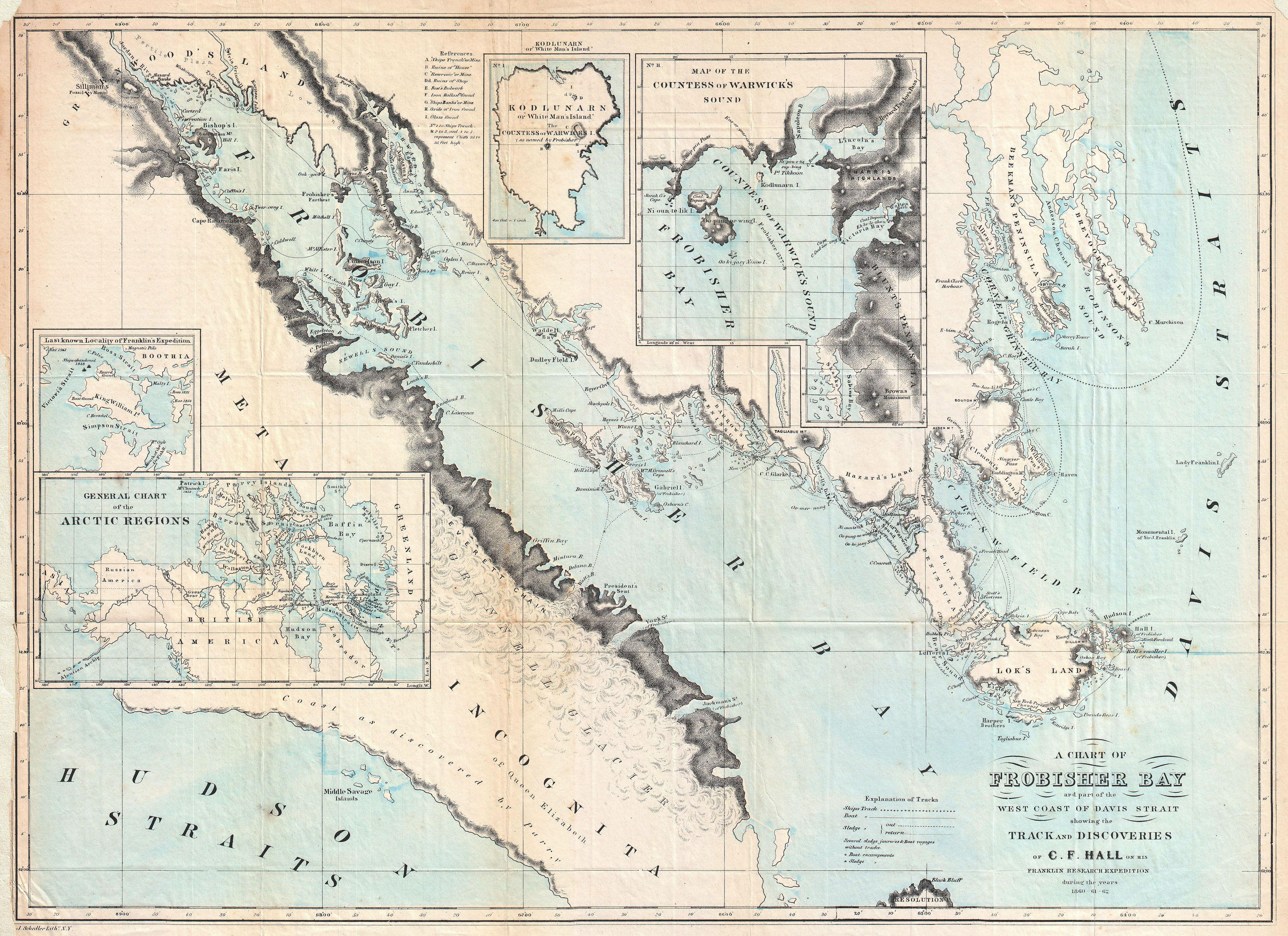 File Hall Map Of Frobisher Bay Baffin Island Canada