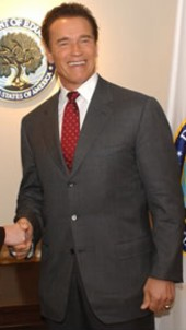 Photo of California Governor Arnold Schwarzenegger