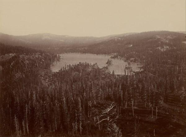 File Carleton Watkins American - Dams And Lake Nevada County Distant View Google Art