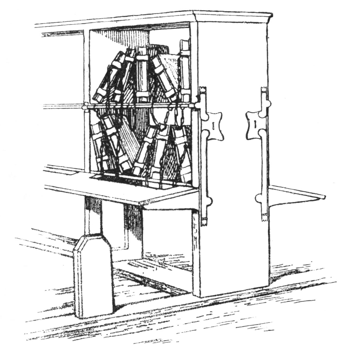 File:Diagrammatic sketch of a bookcase with reader's desk