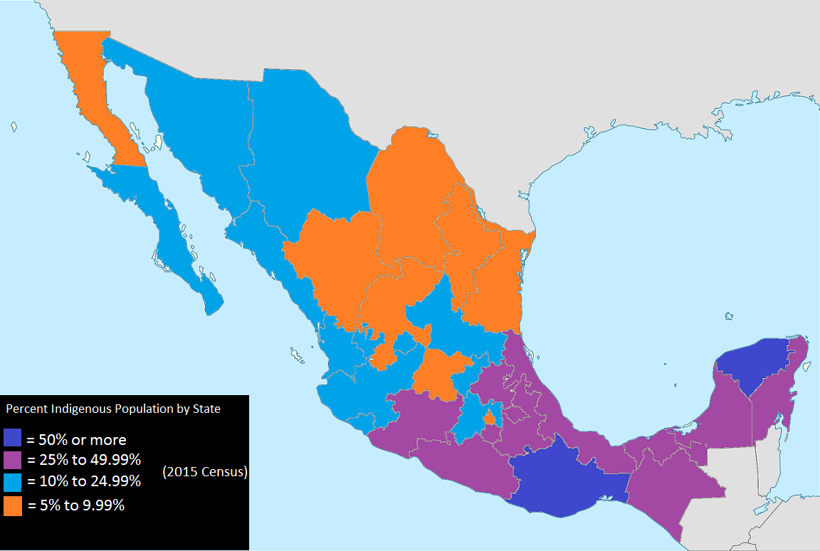 Percentage Of The Population Identifying As Indigenous In