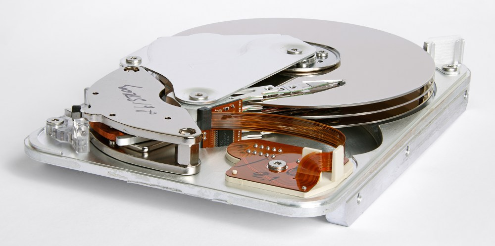 medium resolution of inner view of a 1998 seagate hdd that used parallel ata interface