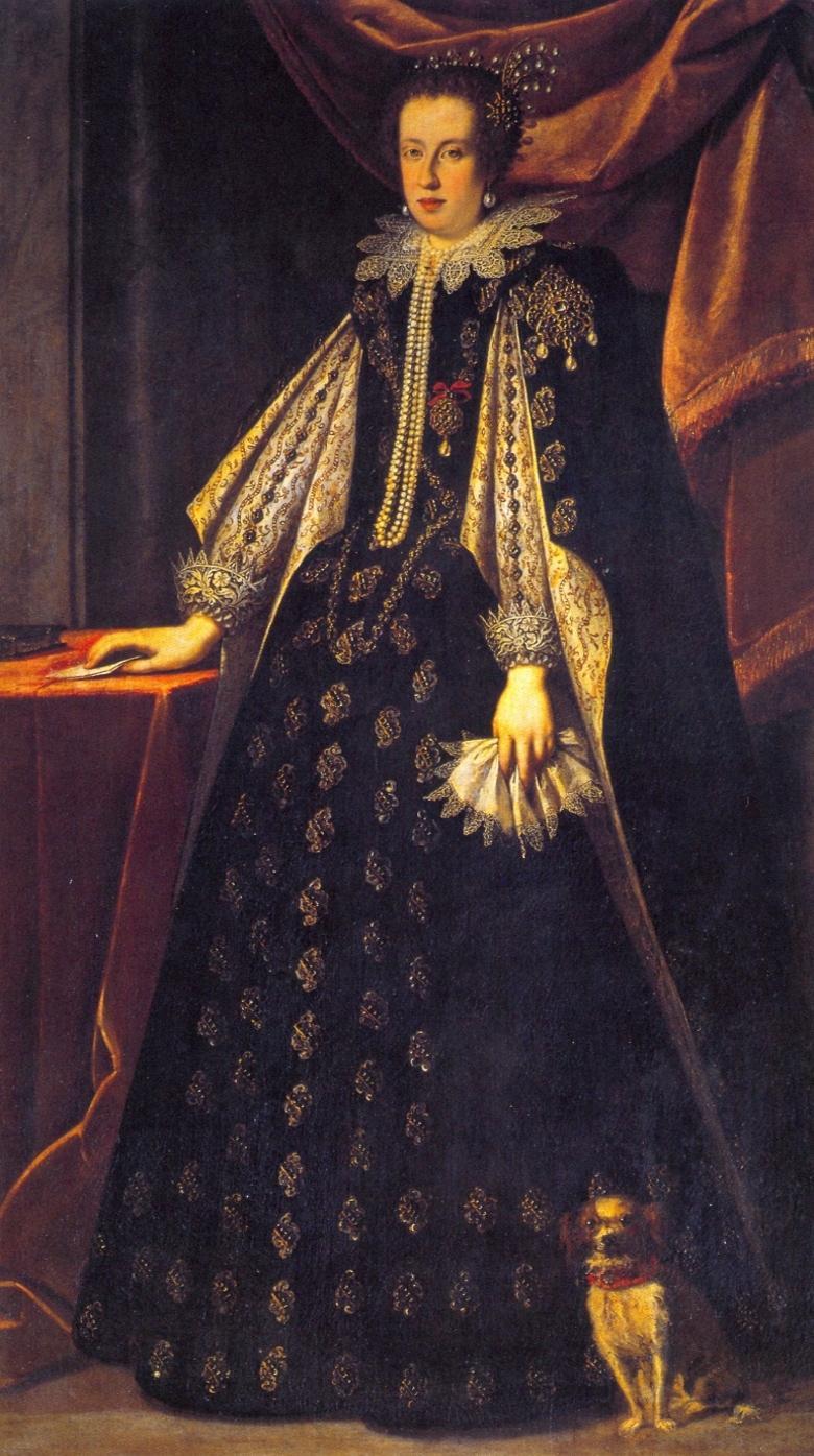 Claudia de%27 Medici%2C Duchess of Urbino and Archduchess of Austria by Sustermans 17th Century Fashion