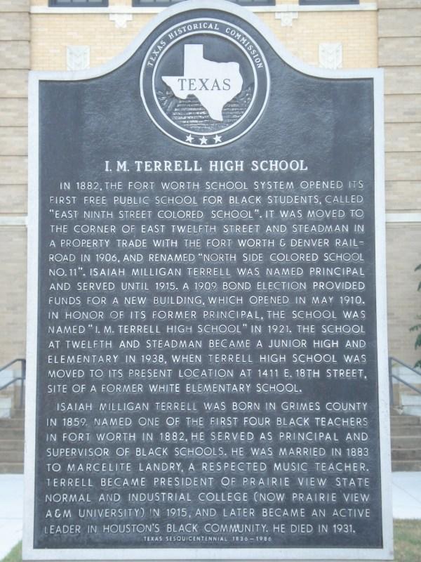 I M Terrell High School Fort Worth Texas