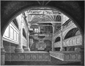 Interior of the Schlosskirche before the 1850-...