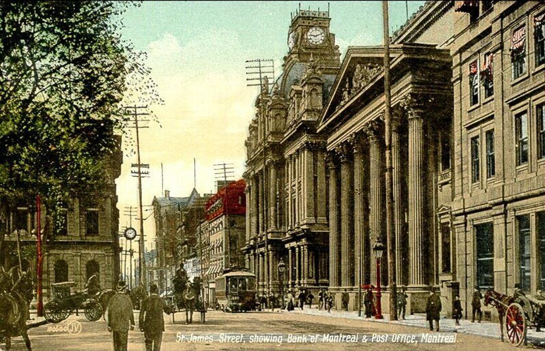 Timeline Wallpaper Hd File St James Street Showing Bank Of Montreal Amp Post