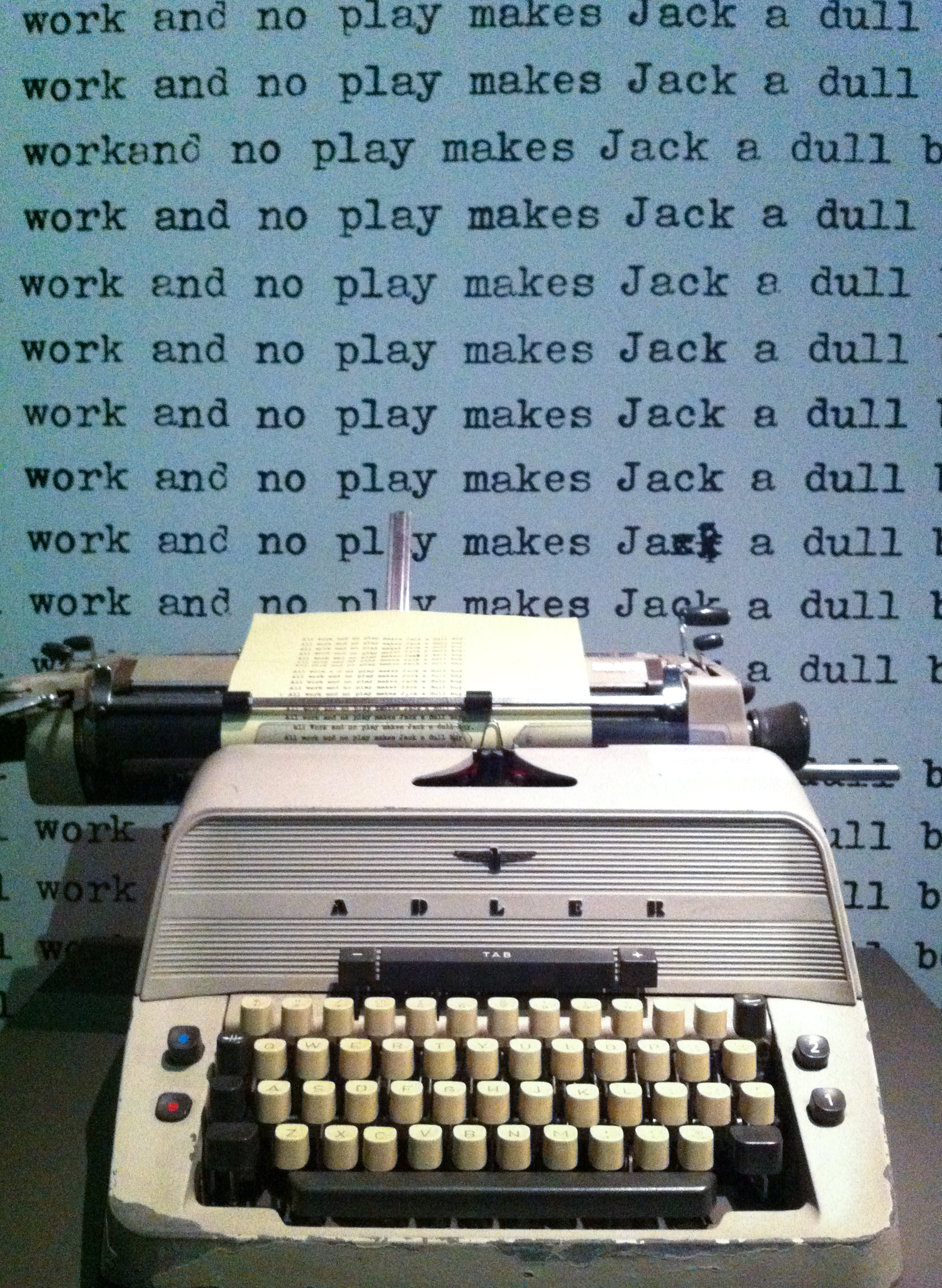 All Work And No Play Makes Jack A Dull Boy : makes, File:All, Makes, Shining), (7957738500).jpg, Wikimedia, Commons
