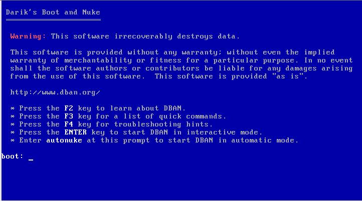 Startbildschirm von DBAN (von Wikipedia)