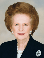 Margaret Thatcher (provided by Chris Collins of the Margaret Thatcher Foundation CC-BY-SA)