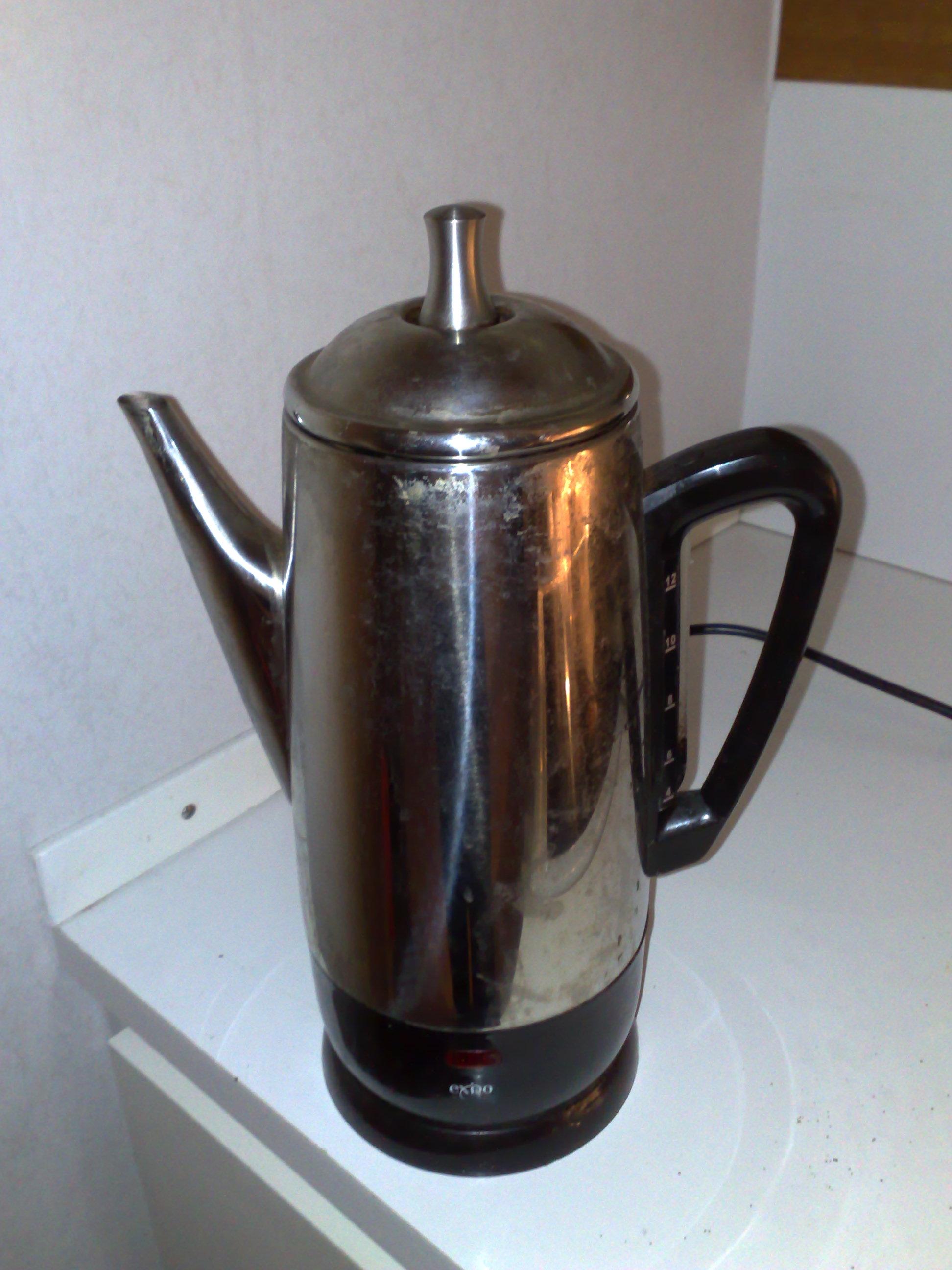 hight resolution of coffee percolator
