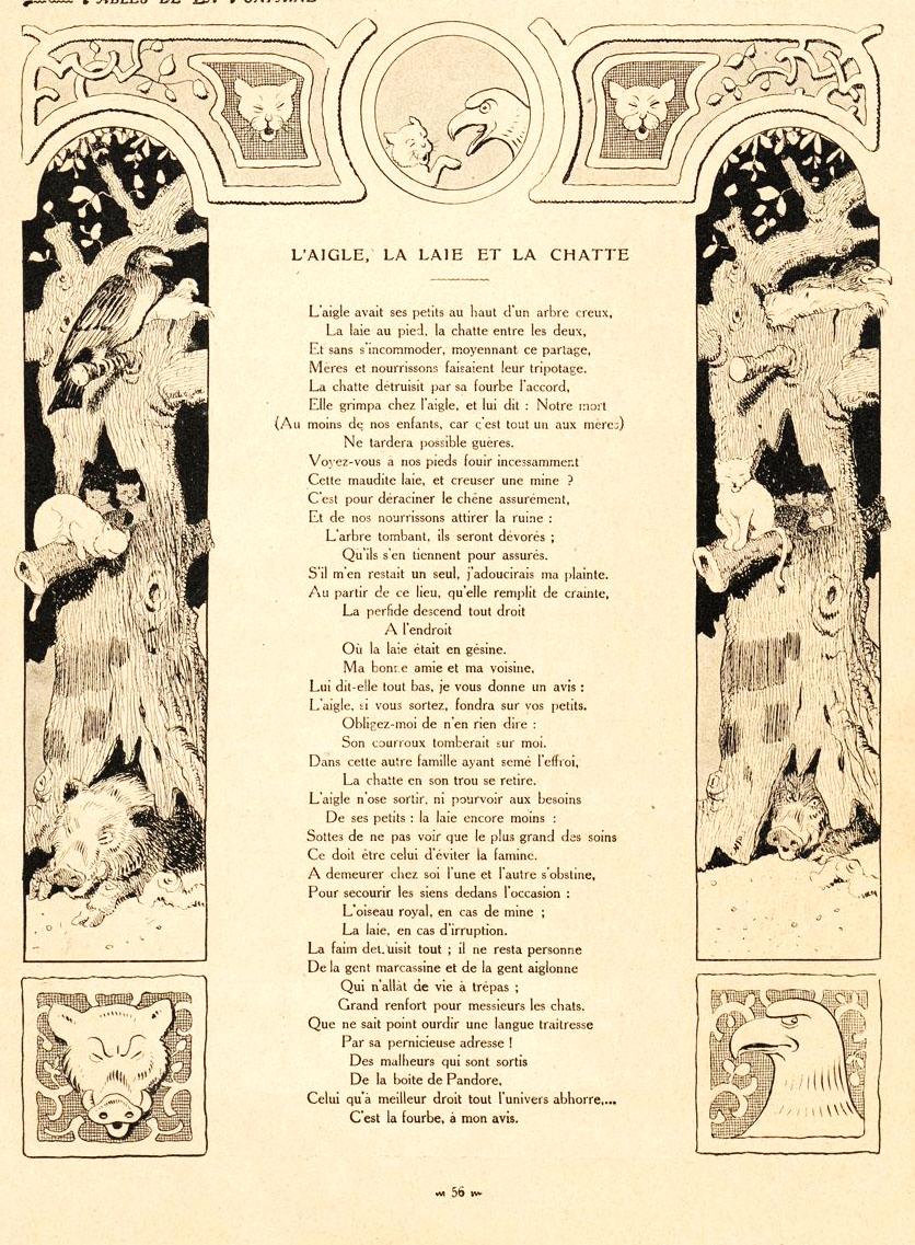 Le Renard Et Le Bouc : renard, File:Rabier, Fables, Fontaine, Renard, Bouc.jpg, Wikimedia, Commons