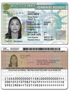 English: 'USCIS To Issue Redesigned Green Card'