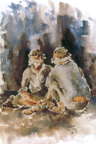 English: WAITING INTERROGATION,199th LT INF BG...