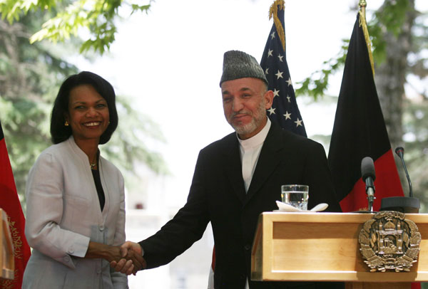 File:Secretary Rice With Afghan President Hamid Karzai.jpg